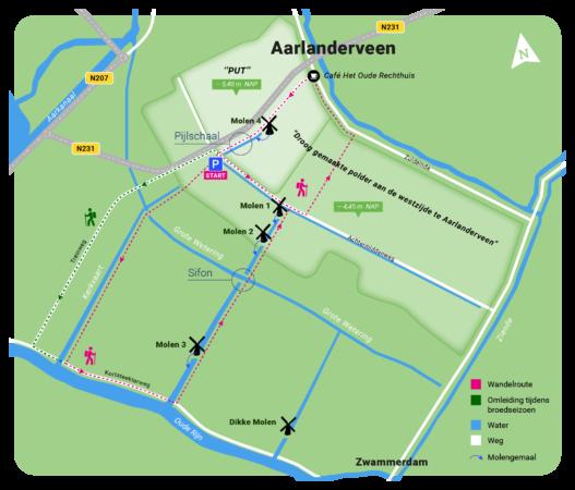 wandelkaart-molenviergang-aarlanderveen